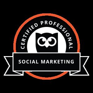 lauren's social marketing certification badge