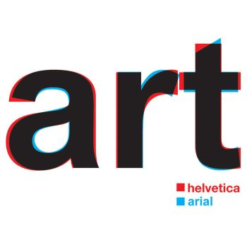 helvetica versus arial demonstration